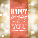 Happy birthday retro vector illustration Royalty Free Stock Photos