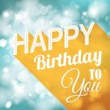 Happy birthday retro vector illustration Stock Images