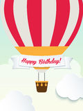 Happy birthday retro vintage balloons greeting Royalty Free Stock Images