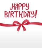 Happy Birthday Ribbon Bow. Happy Birthday card with Ribbon Bow Royalty Free Stock Image
