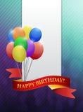 Happy birthday ribbon card illustration design Royalty Free Stock Image