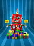 Happy Birthday Robot Stock Images