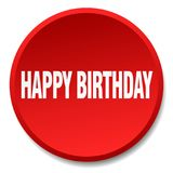Happy birthday button. Happy birthday round button isolated on white background. happy birthday stock illustration