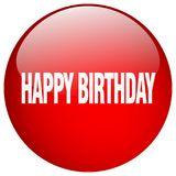 Happy birthday button. Happy birthday round button isolated on white background. happy birthday royalty free illustration