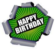 Happy Birthday Rupture Sign Stock Image