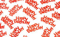 Happy birthday sayings on white background Stock Image