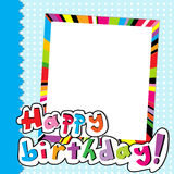 Happy Birthday scrapbook Royalty Free Stock Photo