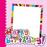 Happy Birthday scrapbook for baby girl Stock Photos