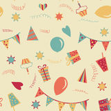 Happy birthday seamless background Royalty Free Stock Photography