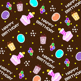 Happy birthday seamless background pattern Stock Images