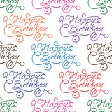 Happy Birthday seamless background pattern Stock Photo