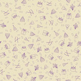 Happy Birthday Seamless Pattern Background Royalty Free Stock Photo