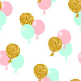 Happy birthday. Seamless pattern with balloons. Vector illustration Royalty Free Stock Photography