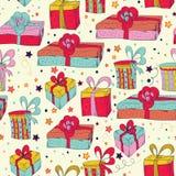 Happy Birthday seamless pattern. Stock Photo