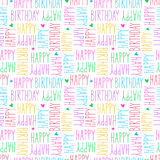 Happy birthday seamless pattern. Vector illustration Royalty Free Stock Photo