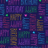 Happy birthday seamless pattern. Vector illustration Stock Images