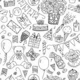 Happy Birthday seamless pattern Royalty Free Stock Image
