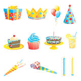 Happy Birthday  set Royalty Free Stock Image