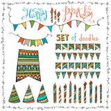 Happy Birthday set. Stock Image