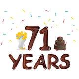 Happy Birthday seventy one 71 year Royalty Free Stock Images