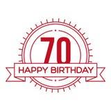 Happy Birthday Seventy years sign Stock Image