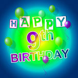 Happy Birthday Shows Fun Parties And Greeting Royalty Free Stock Images