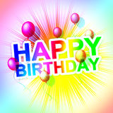 Happy Birthday Shows Greeting Happiness And Parties Royalty Free Stock Photography