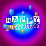 Happy Birthday Shows Party Celebration And Happiness Royalty Free Stock Photo