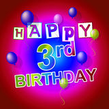 Happy Birthday Shows 3Rd Parties And Greetings Royalty Free Stock Photo