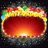 Happy Birthday Sign. Happy Birthday Vector Background for your Congratulations Stock Photo