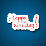 Happy birthday sign Royalty Free Stock Photography
