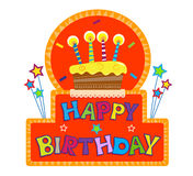 Happy Birthday Sign Royalty Free Stock Photos