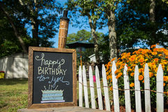 Happy Birthday Sign A On Chalkboard Royalty Free Stock Photography