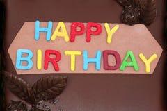 Happy birthday sign stock photography