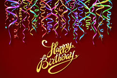 Happy birthday sign design background. Birthday background with colorful confetti vector. Art Stock Images