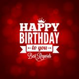 happy birthday sign design background Stock Photography