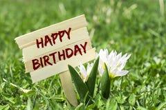 Happy birthday sign Stock Photos