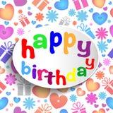 Happy birthday sign. Stock Image