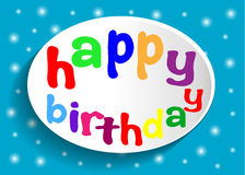 Happy birthday sign. Stock Photography