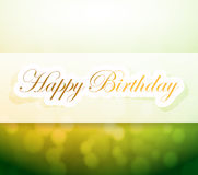 Happy birthday sign and lights illustration Stock Photography