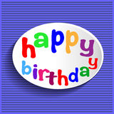 Happy birthday sign. Royalty Free Stock Photos