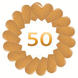 Happy birthday sign for 50 year Stock Photos