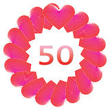 Happy birthday sign for 50 years Stock Photos