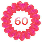 Happy birthday sign for 60 years Royalty Free Stock Image