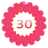 Happy birthday sign for 30 years Royalty Free Stock Images