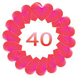 Happy birthday sign for 40 years Stock Photography