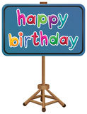 A happy birthday signboard Stock Image