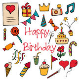 Happy Birthday signs and symbols Royalty Free Stock Images