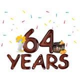 Happy Birthday sixty four 64 year Stock Photography