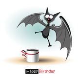 Happy Birthday smile bat card Stock Photos